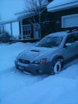 2005 Subaru Outback XT Limited with winter wheels and General Articmax snow tires